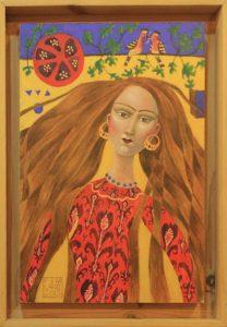 Фаозия и Майкл Лейн. Девушка в оранжевом платье.