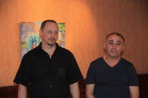 Роман Чернего и Хуршид Зияханов в галерее Bonum Factum
