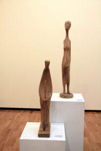 Улаш Ураков. Экспозиция скульптур из дерева.