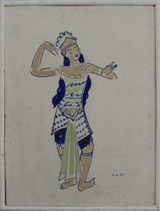 Ахмаров Чингиз. Танцовщица Бали. 1964