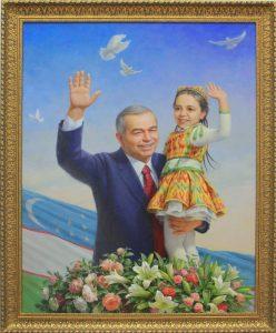 Арт-трио. Косимов Хусан. Портрет первого Президента Республики Узбекистан И.А. Каримова