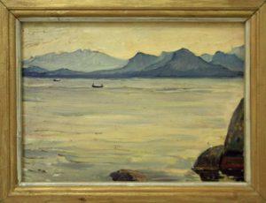 Мордвинцева Г. Гора спящий рыцарь. 1975 (Семейная коллекция).