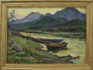Мордвинцева Г. Лодки на озере Буровое. 1974