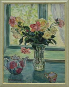 Мордвинцева Г. Розы на окне. 2003