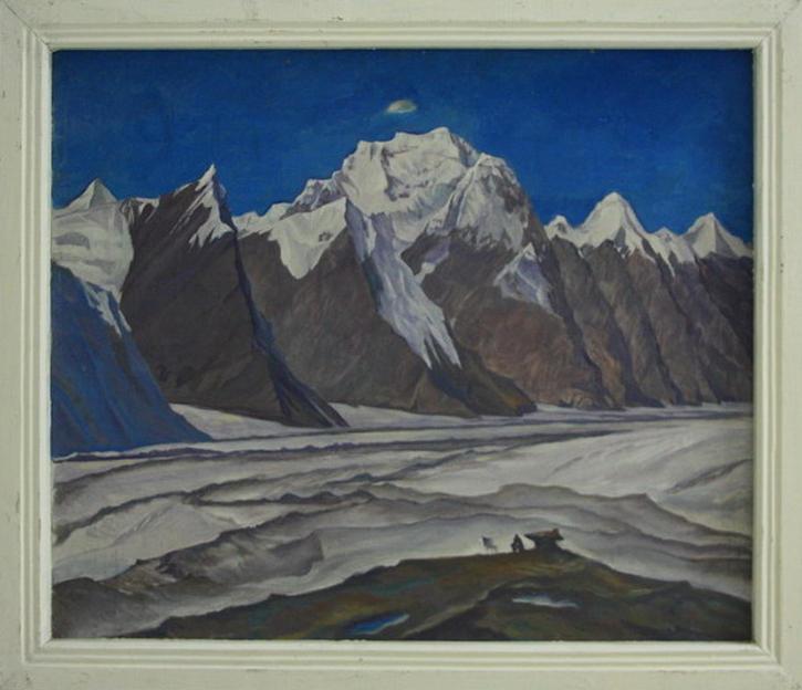 Стрельников Ю. Ледник Инильчек. 1974 (ДХВ)