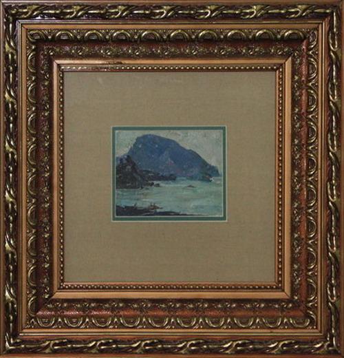 Стрибный С. Морской пейзаж со скалой. 1969-70 (галерея Zero Line)