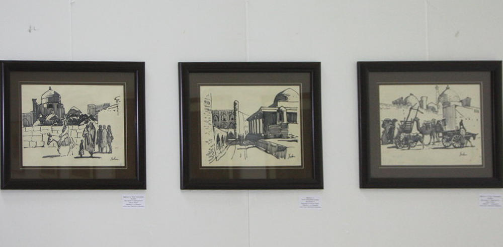 Цыглинцев А. Зарисовки из цикла Хива.  1950 -60 г.г. (галерея Zero Line)