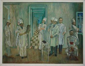 Тохтаев М. Групповой портрет хирургов. 1977 (ДХВ)