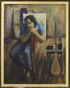 Умаров А. Портрет художника Аслиддин Исаева. 1985 г.