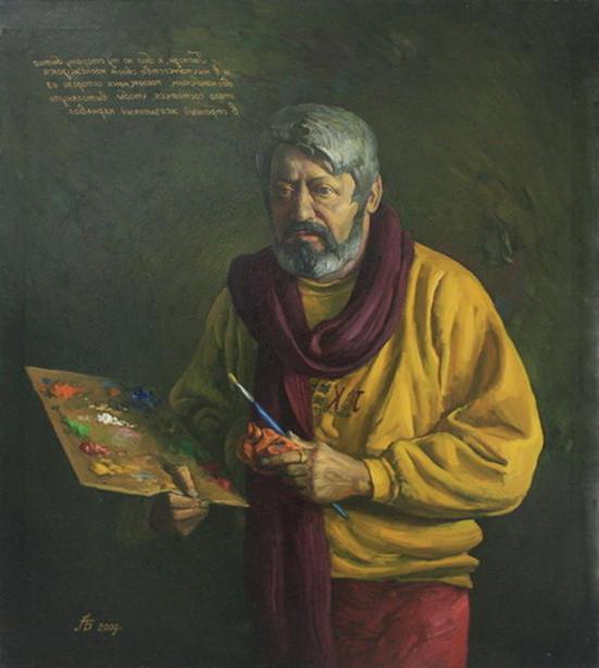 Анвар Бахтеев. Автопортрет. 2009 (Из собр. Рутамова)