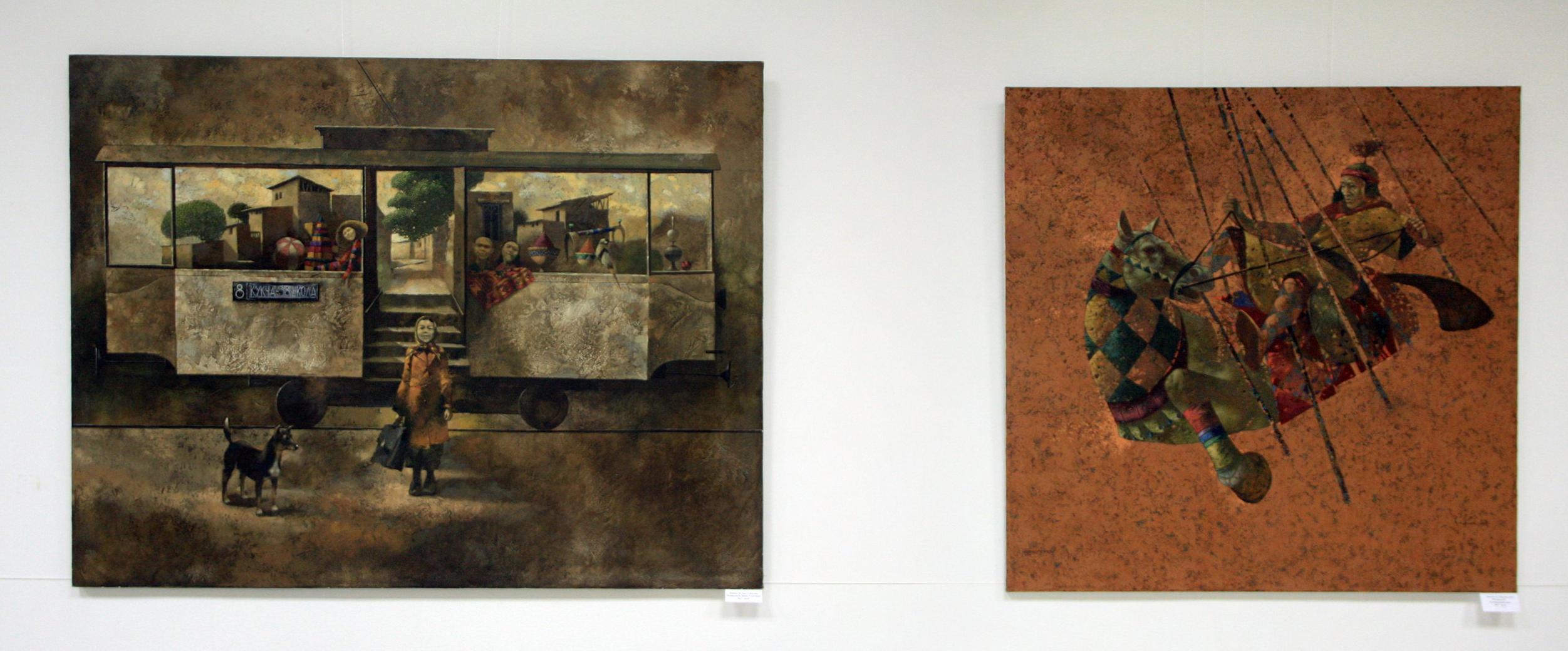 Бобур Исмаилов. Экспозиция картин.