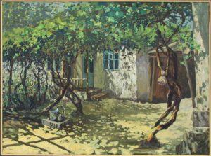 Дилором Мамедова. Солнечный виноградный дворик. 2016