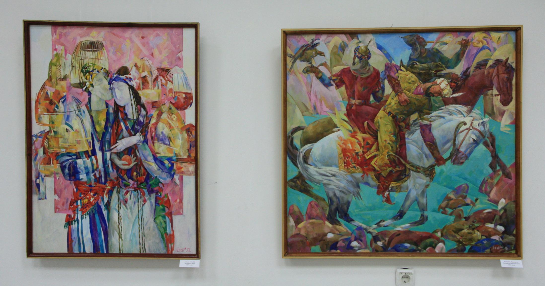 Эркин Джураев. Экспозиция картин.