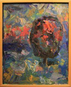 Евгений Кравченко. Вечерний пейзаж (Дерево). 1960-е Маргилан (из собрания Л.Кодзаеваой)