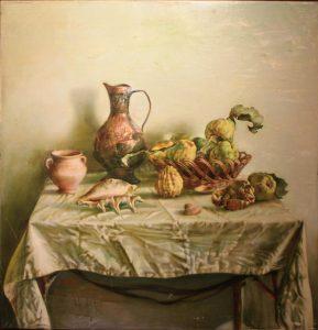 Максуд Тухтаев. Натюрморт с кумганом. 1987 (ДХВ)