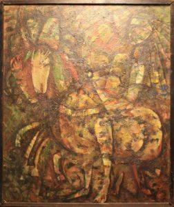 Музаффар Абдуллаев Из триптиха Сегох. 1991 (ДХВ)