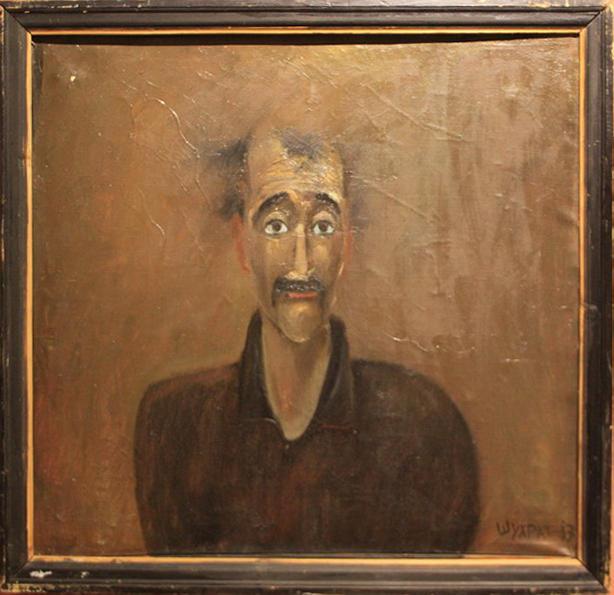 Шухрат Бабаджанов. Портрет Музаффара. 1987. (ДХВ)