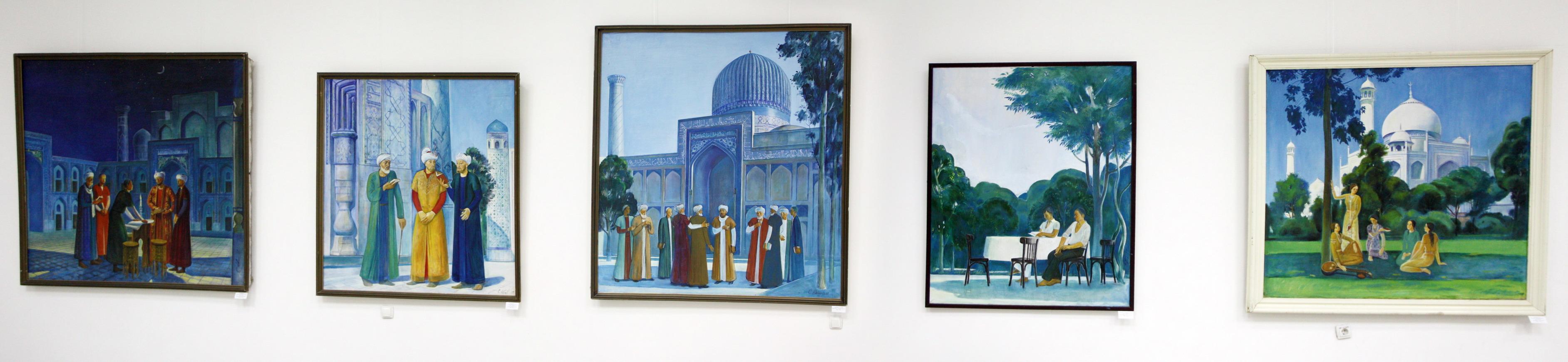Сагдулла Абдуллаев. Экспозиция картин.
