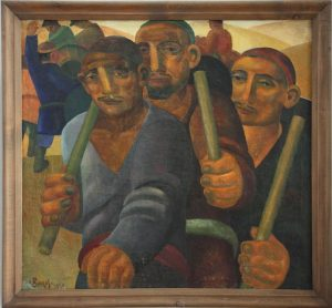 Волков А.Н. Строители Ферганского канала. 1930 (ГМИ Уз)