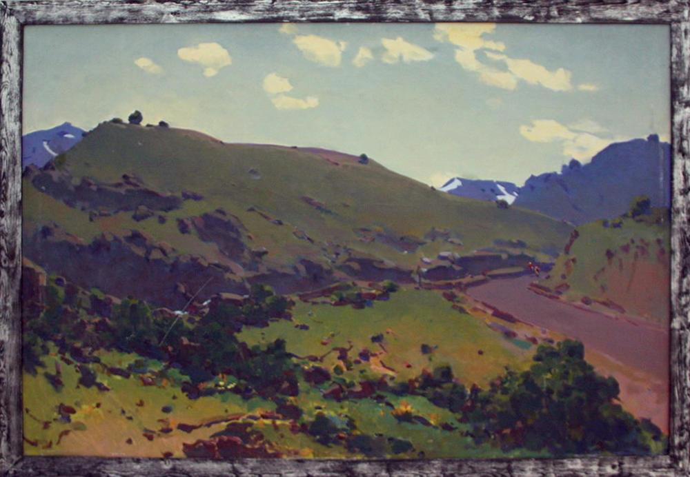Урал Тансыкбаев. В горах Бричмуллы. 1973. (ДХВ)