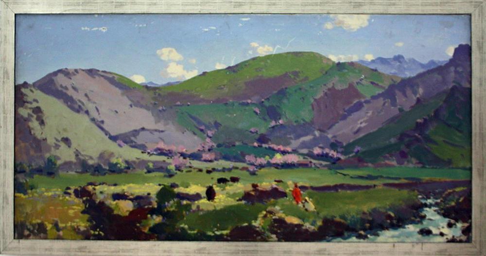 Урал Тансыкбаев. Весна в Горах. 1961. (ДХВ)