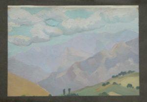 Волков А.Н. Гористый пейзаж. 1920 (ГМИ Уз)