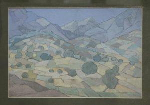 Волков А.Н. Пейзаж. Долина среди гор. 1920 (ГМИ Уз)