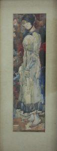 Волков А.Н. Портрет жены художника. 1916 (ГМИ Уз)