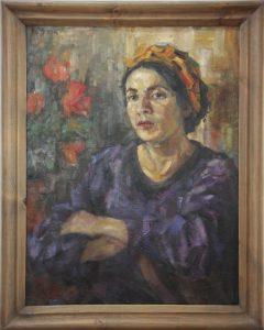 Волков А.Н. Портрет жены художника. 1942 (ГМИ Уз)