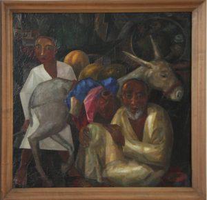 Волков А.Н. Старик и мальчик с ослом. 1927 (ГМИ Уз)