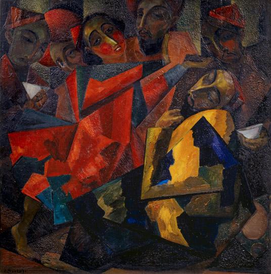 Волков А.Н. Танец. 1924 фанера, м.