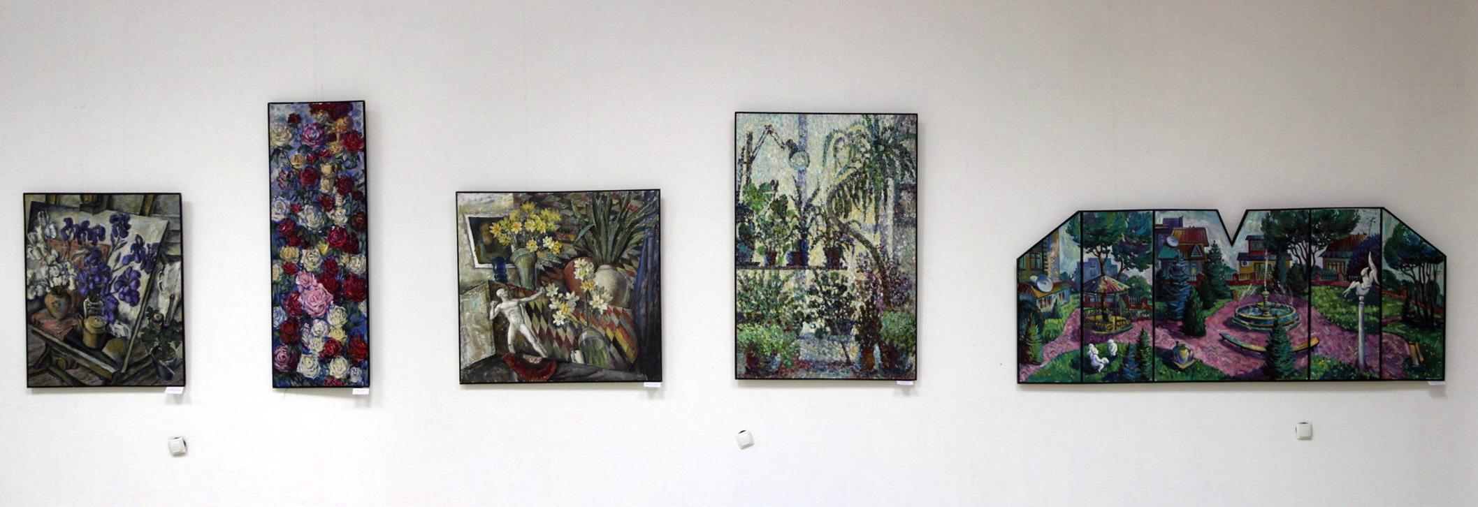 Экспозиция картин.