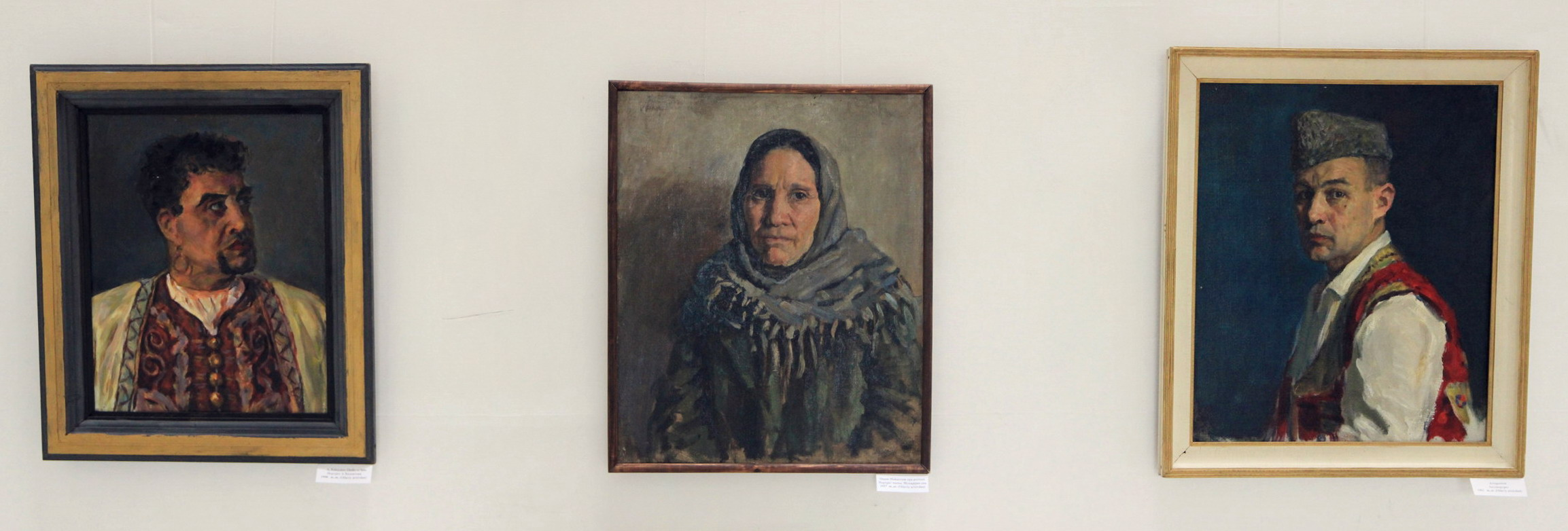 Абдулхак Абдуллаев. Портрет А. Хидоятова, Портрет мамы, Мукаррам опа, Автопортрет (Семейный архив)