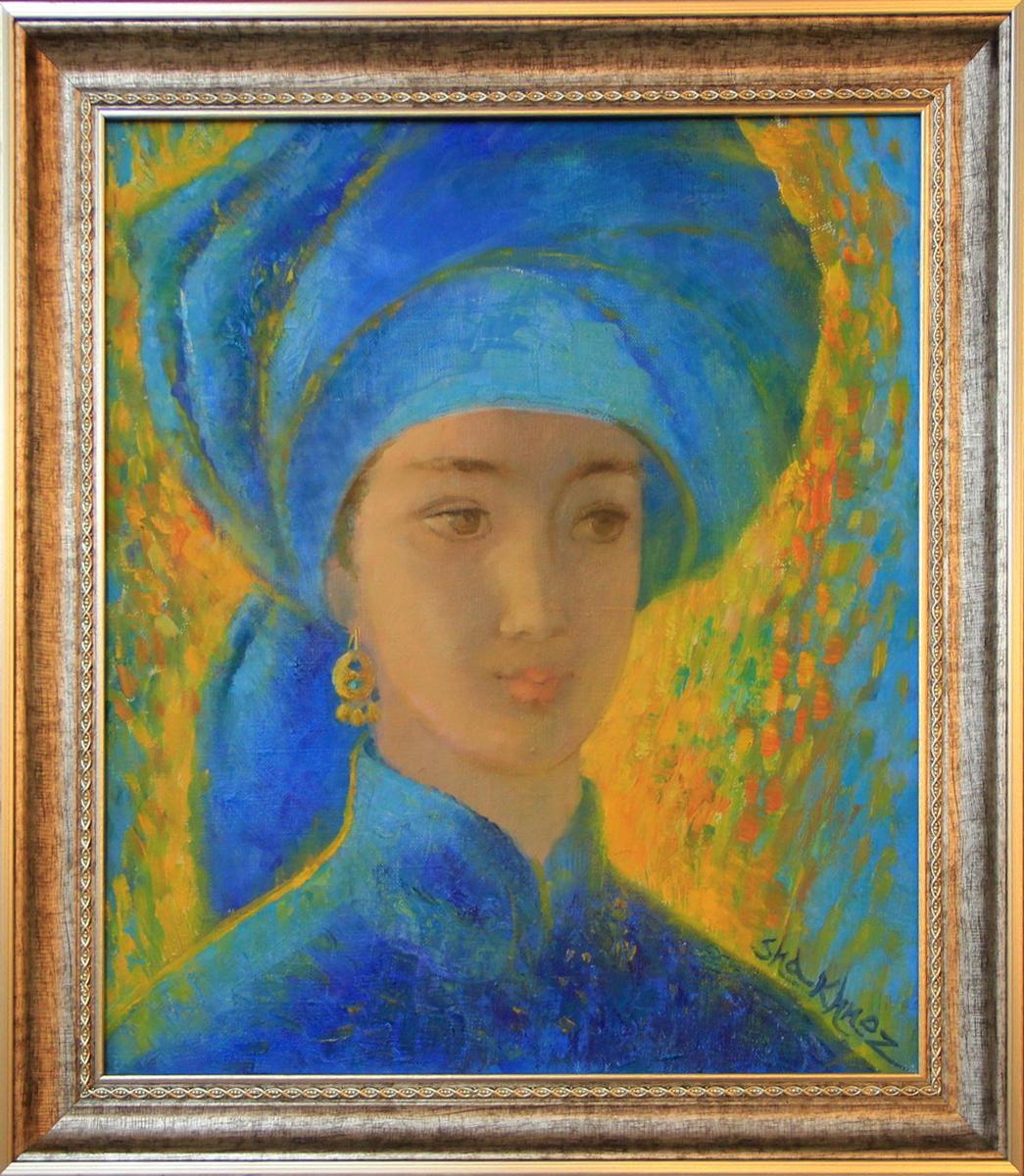 Шахноз Абдуллаева. «Девушка в голубом».
