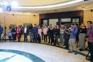 Открытие выставки. Фото из afisha.uz