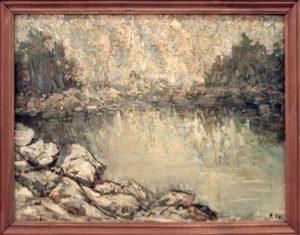 Гаглоева Римма. Горное озеро. 1998