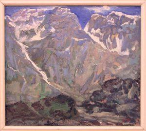 Гаглоева Римма. Горный пейзаж. 1992