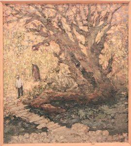 Гаглоева Римма. Сухое дерево. Урунгачсай. 1997