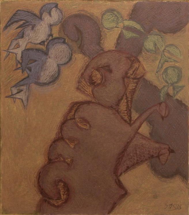 Зелимхан Саиджанов. Баран поедающий листья. 1998