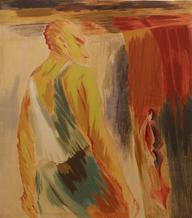 Зелимхан Саиджанов. Портрет у ворот. 1986