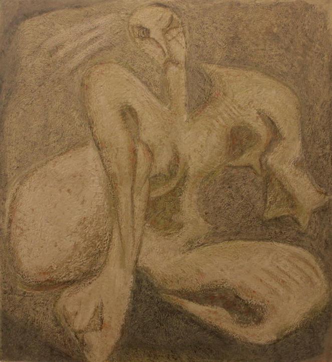 Зелимхан Саиджанов. Сидящая модель. 2003