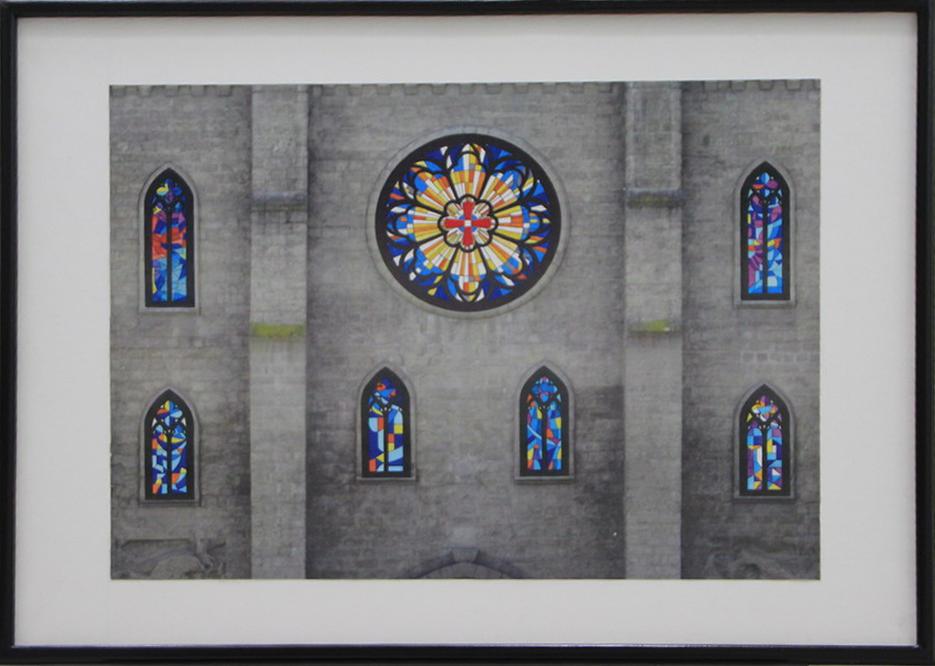 А. Ахмедшин. Эскизы витражей для окон и розы на фасаде Римской католической церкви.