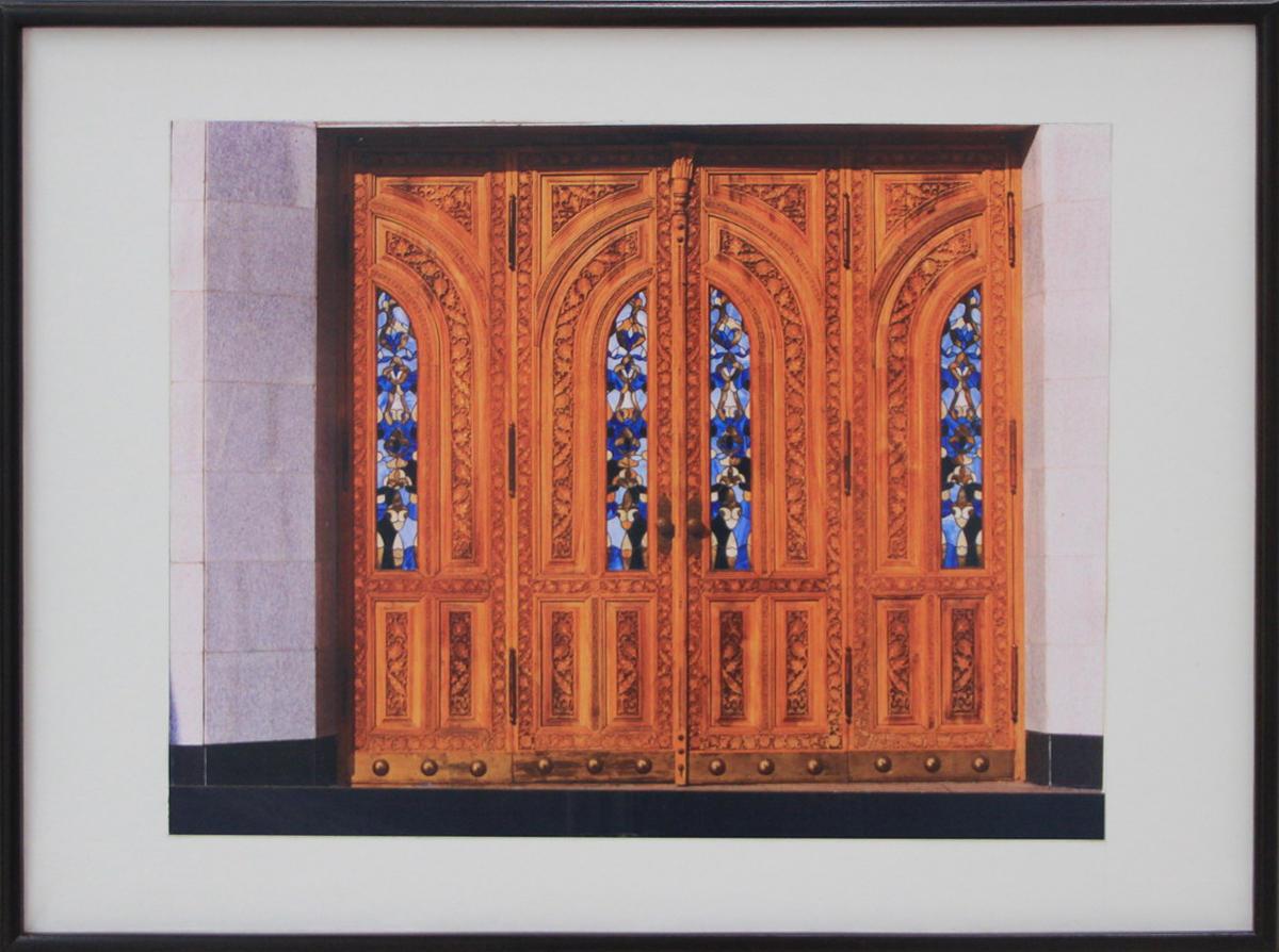 А. Ахмедшин. Витражи дверей Музея Тимуридов в Ташкенте.