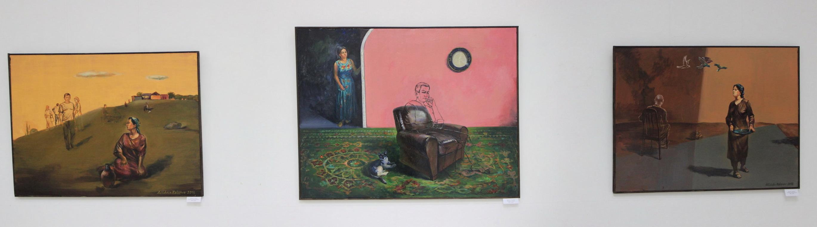 Экспозиция картин А. Каланова