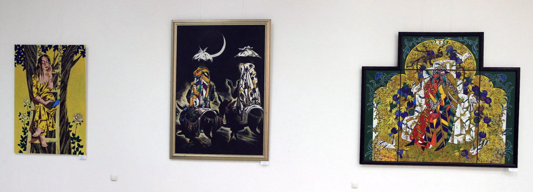 Экспозиция картин Х. Зияханова и Ж. Умарбекова