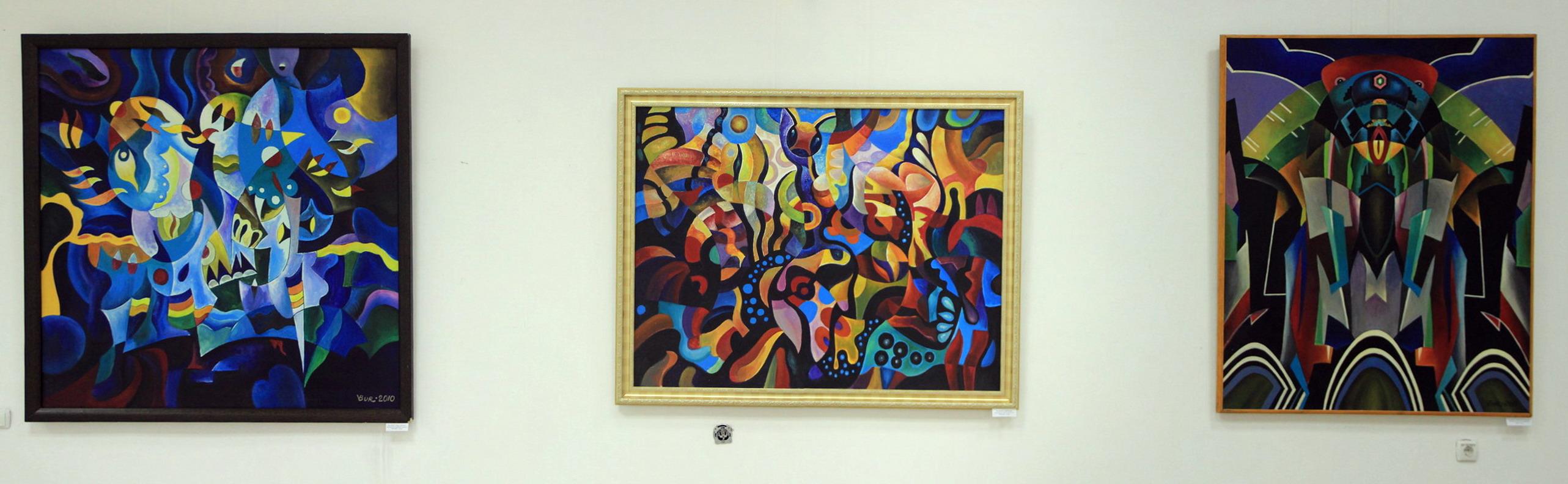 Экспозиция картин Владимира Бурмакина