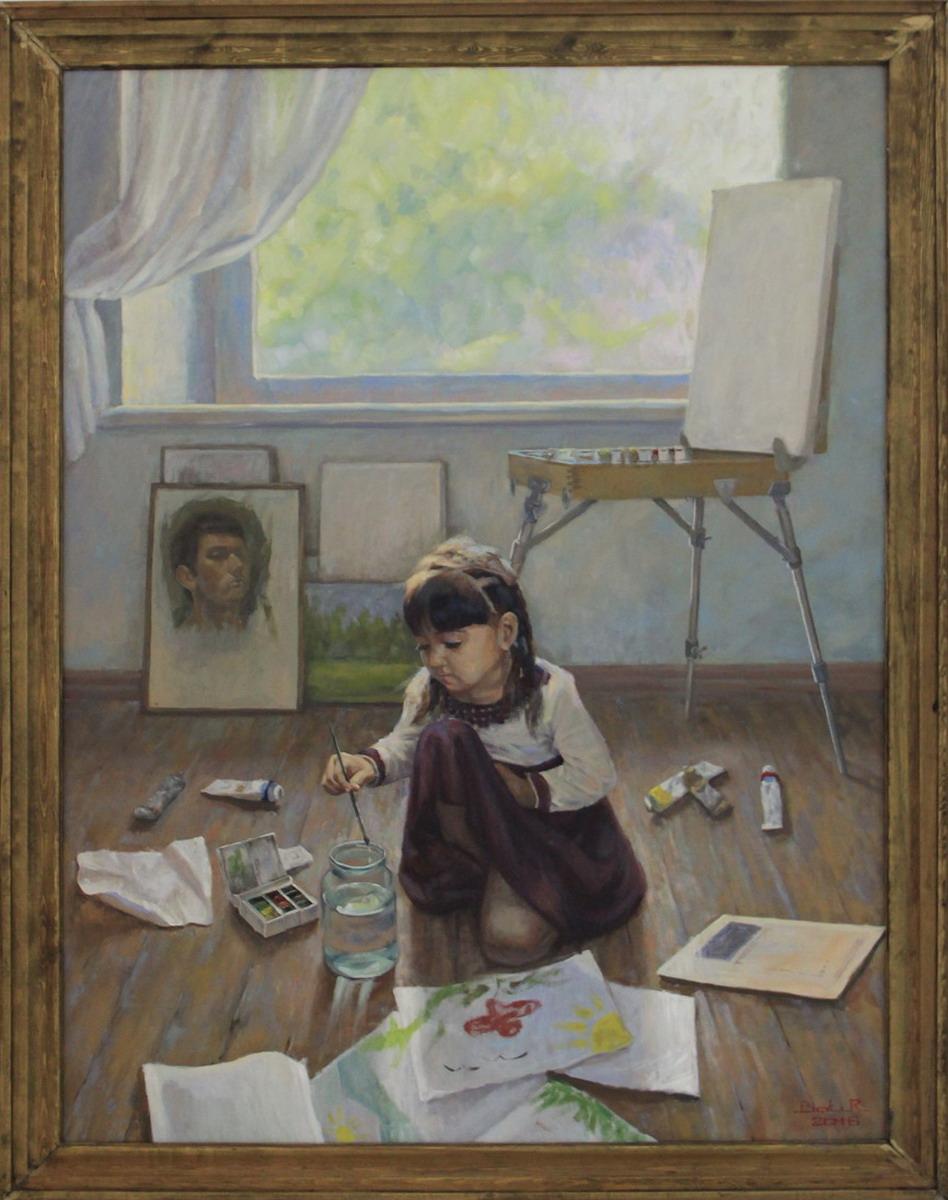 Исмаилов Б. В матерской художника. 2016