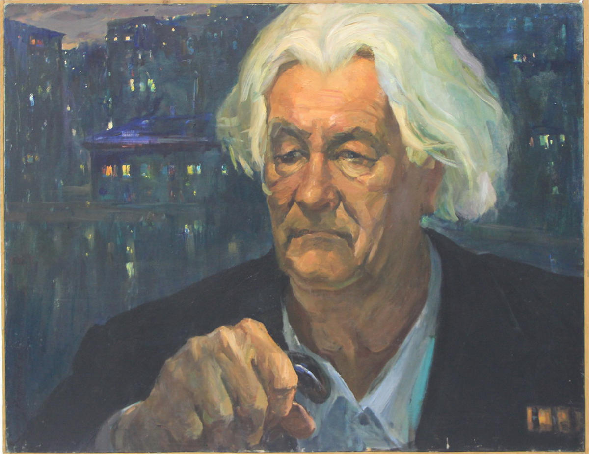 Лев Резников. Портрет художника - плакатиста Д. Махотина. 1985 (Из семейного архива)