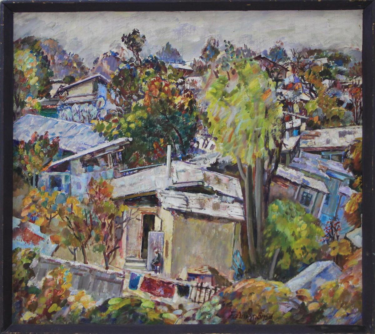 Салпинкиди Янис. Осень. Структуры старого Ташкента. 2001
