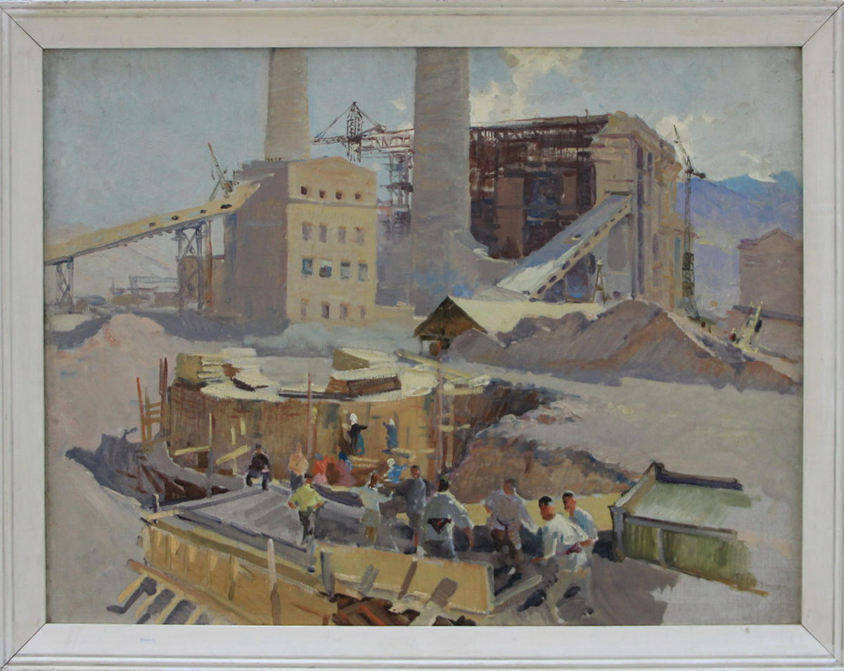 В. Жмакин. На строительстве Ангренской ГРЭС. 1958 (ДХВ)